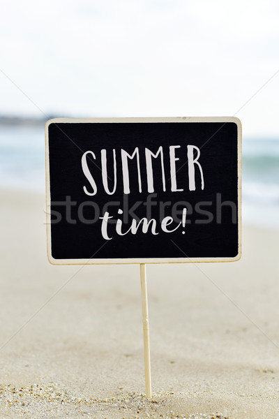 text summer time in a signboard on the beach Stock photo © nito