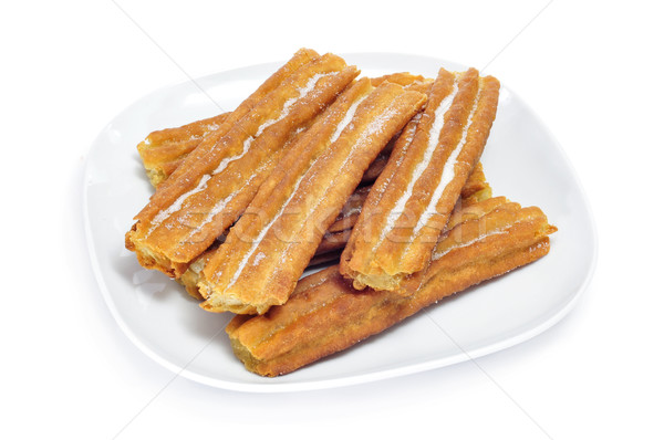 porras, thick churros typical of Spain Stock photo © nito