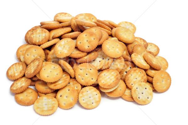 Tuzlu doku gıda ekmek yeme Stok fotoğraf © nito