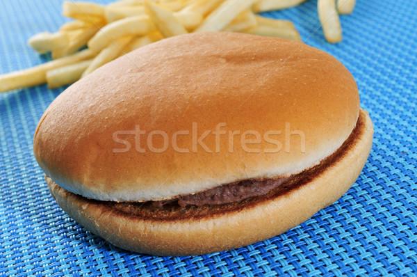 hamburger sandwich and fries Stock photo © nito