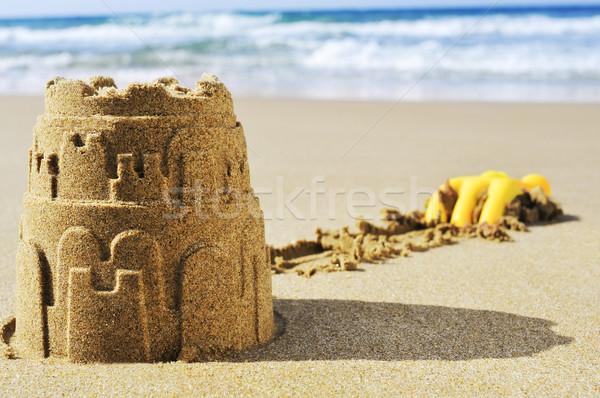 двухуровневый стробирующий импульс песок пляж лет синий весело Сток-фото © nito
