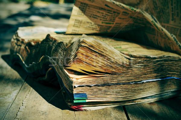 weathered phone book Stock photo © nito