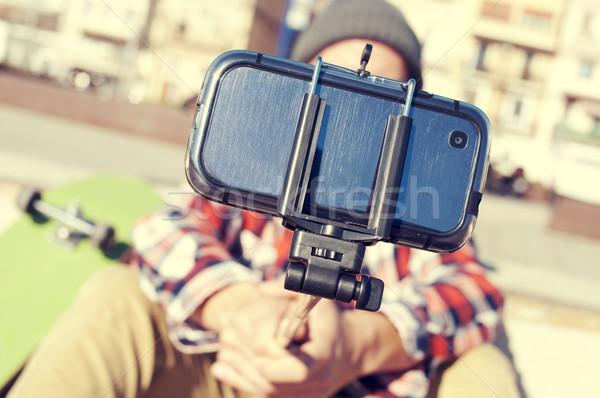 skater taking a selfie Stock photo © nito