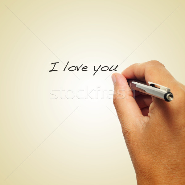 I love you, with a retro effect Stock photo © nito