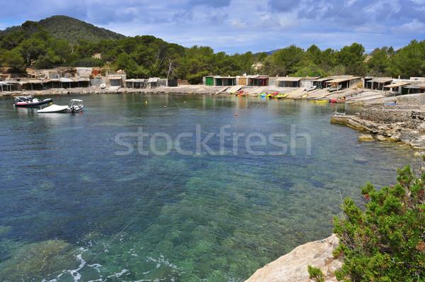 Sa Caleta cove in Ibiza Island, Spain Stock photo © nito