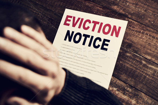 young man who has received an eviction notice Stock photo © nito