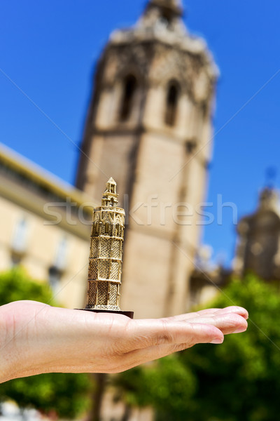 the belfry of the Cathedral of Valencia, in Valencia, Spain Stock photo © nito