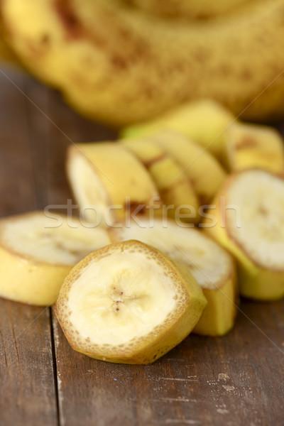Tritato banane legno superficie primo piano maturo Foto d'archivio © nito