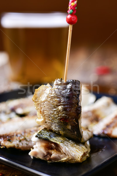 Espanhol servido tapas prato rústico Foto stock © nito