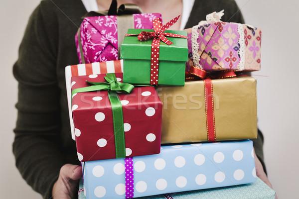 подарки молодые кавказский Сток-фото © nito