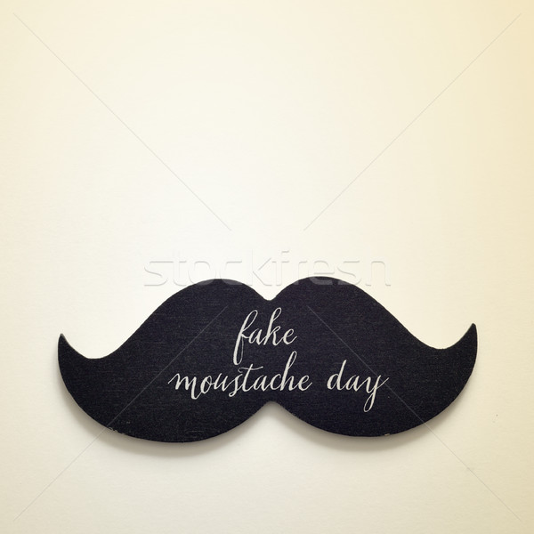 text fake moustache day in a moustache Stock photo © nito