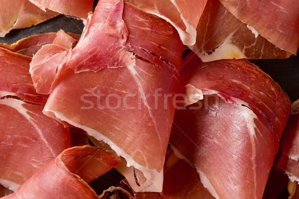 Espagnol serrano jambon délicieux tranches Photo stock © nito