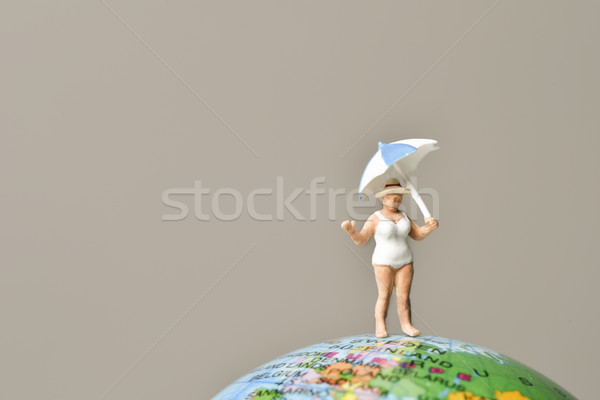 miniature old woman in swimsuit Stock photo © nito