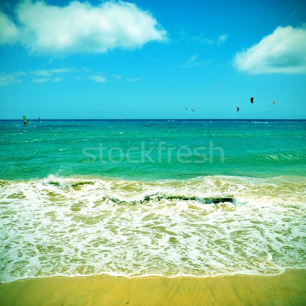 пляж Канарские острова Испания фотография ретро эффект Сток-фото © nito