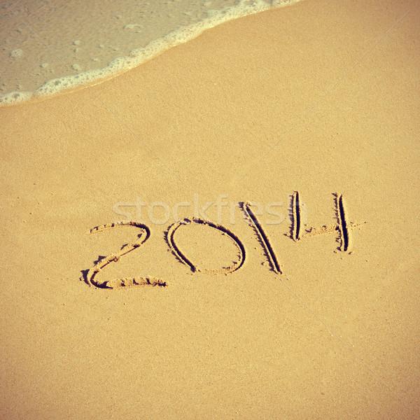2014 on the beach Stock photo © nito