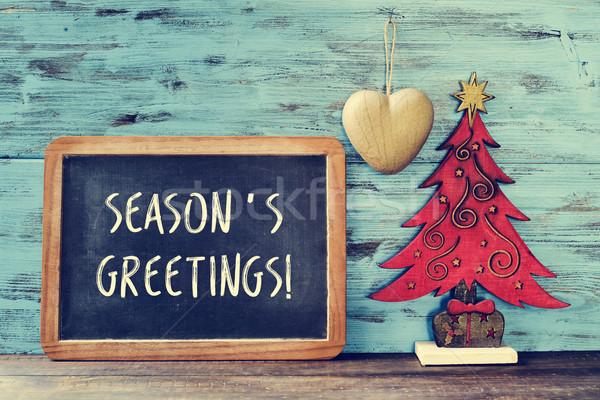 рождественская елка текста доске написанный Сток-фото © nito