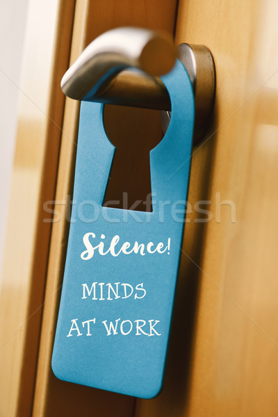 text do not disturb in a door hanger Stock photo © nito