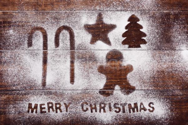 Foto stock: Hombre · estrellas · árbol · texto · alegre · Navidad