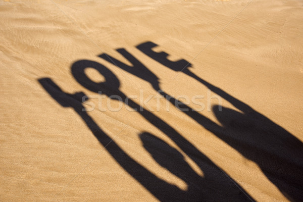 Cień litery słowo miłości człowiek Zdjęcia stock © nito