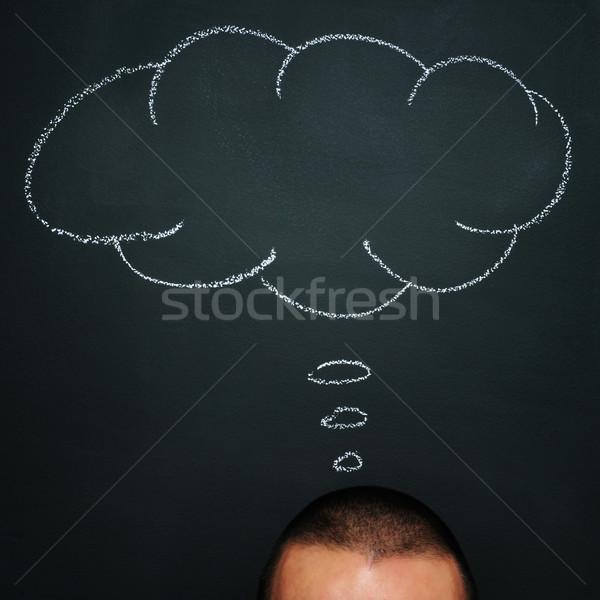 thinking, imagining or dreaming Stock photo © nito