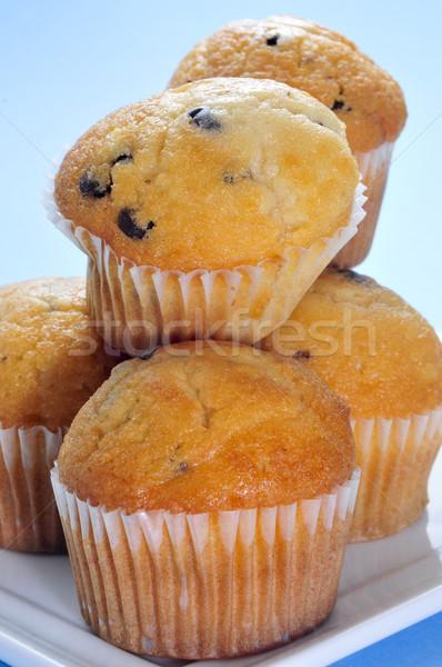 chocolate chips muffins Stock photo © nito