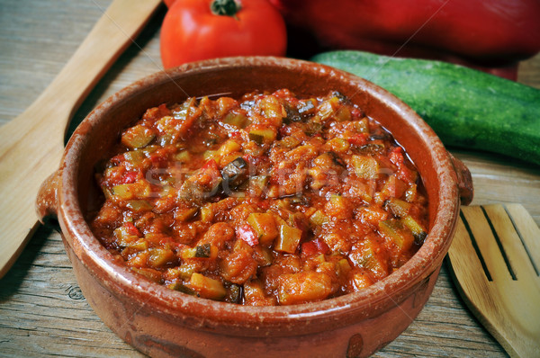 spanish pisto, a typical vegetables stew Stock photo © nito