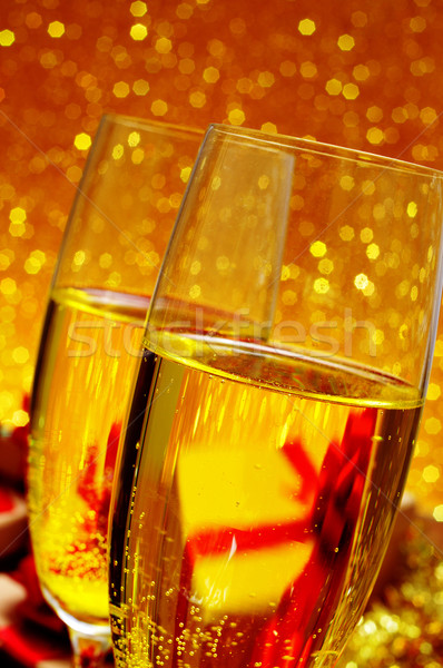 Zdjęcia stock: Okulary · szampana · dwa · błyszczący