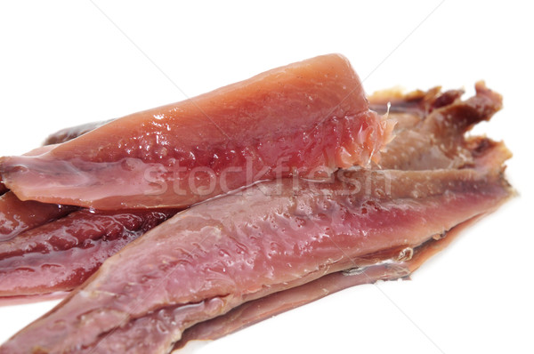 boquerones en vinagre, spanish anchovies marinated in vinegar Stock photo © nito