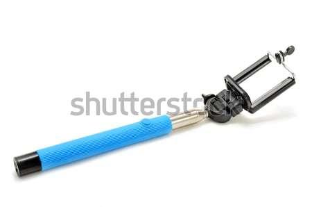Stick регулируемый конец белый телефон фон Сток-фото © nito