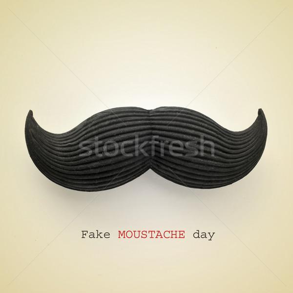 fake moustache day Stock photo © nito