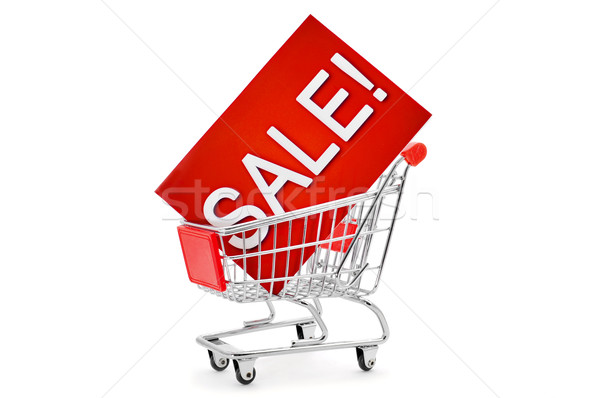 signboard with the word sale in a shopping cart Stock photo © nito