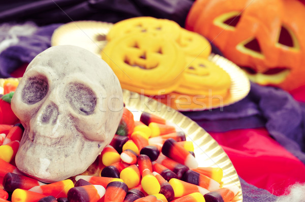 skull and Halloween food Stock photo © nito