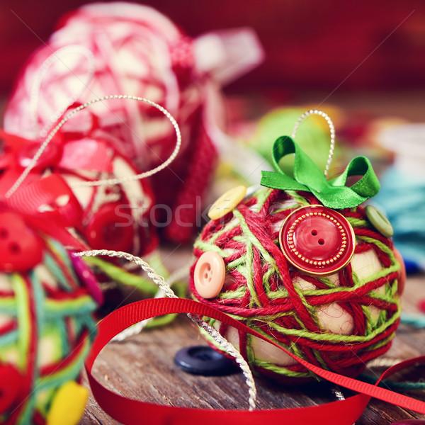 ручной работы Рождества Кнопки Сток-фото © nito