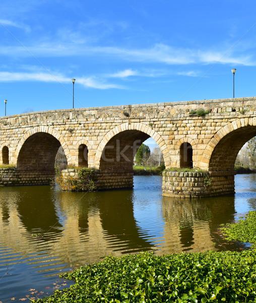 Puente Romano bridge in Merida, Spain Stock photo © nito