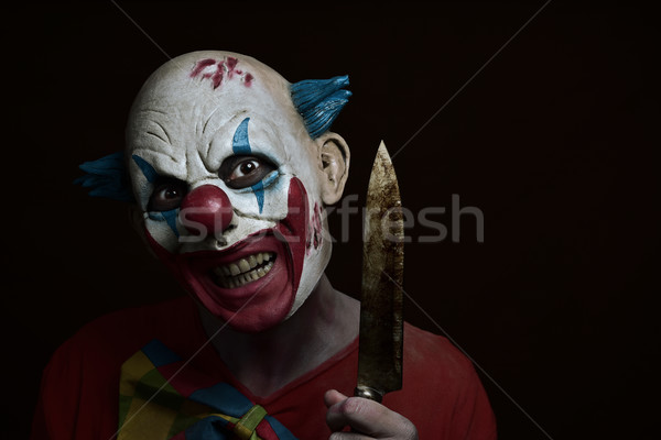 scary evil clown with a knife Stock photo © nito