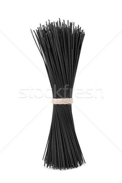 uncooked black spaghetti Stock photo © nito