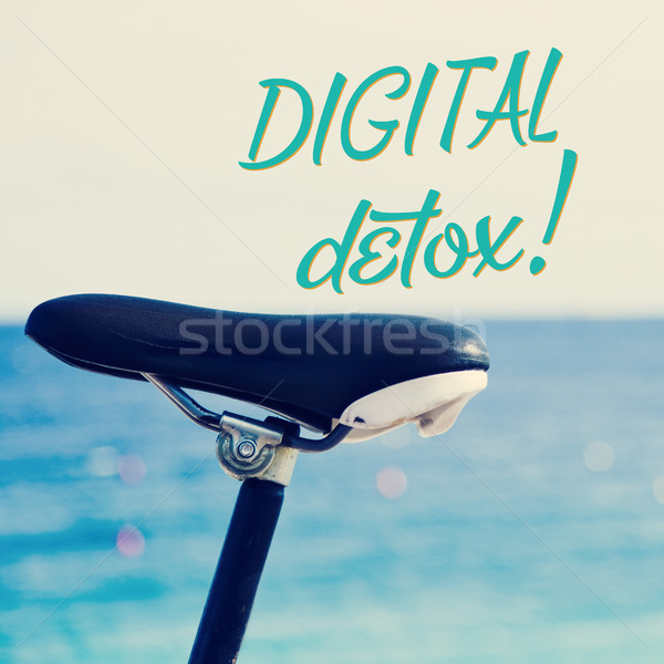 bicycle and the text digital detox Stock photo © nito