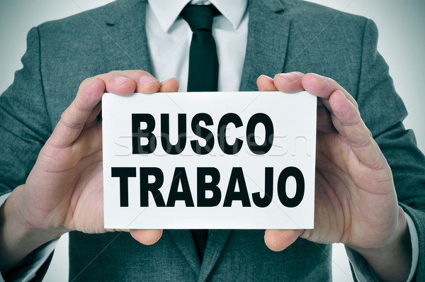 busco trabajo, looking for a job in spanish Stock photo © nito