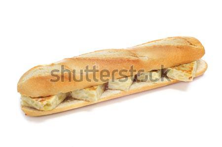 Espanhol tortilla sanduíche branco fundo restaurante Foto stock © nito