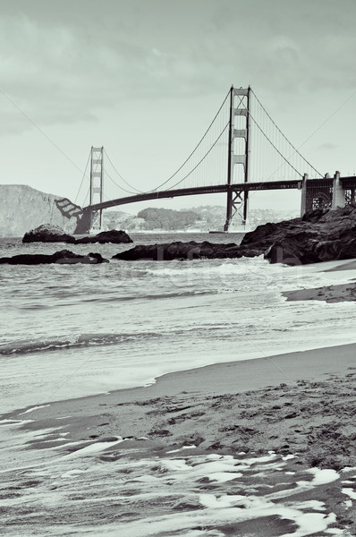Golden Gate Bridge San Francisco Estados Unidos ver padeiro praia Foto stock © nito