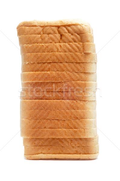 Stok fotoğraf: Ekmek · beyaz · arka · plan · kahvaltı · yeme