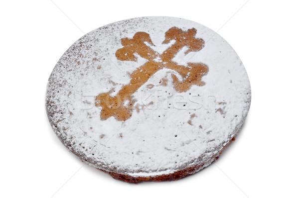 Santiago typisch amandel taart Spanje voedsel Stockfoto © nito
