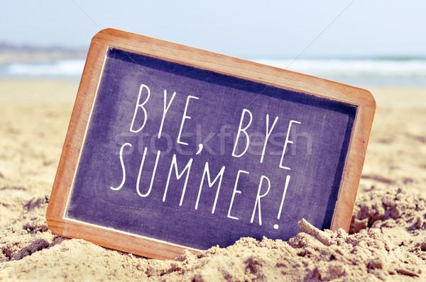 Tekst doei zomer schoolbord strand Stockfoto © nito