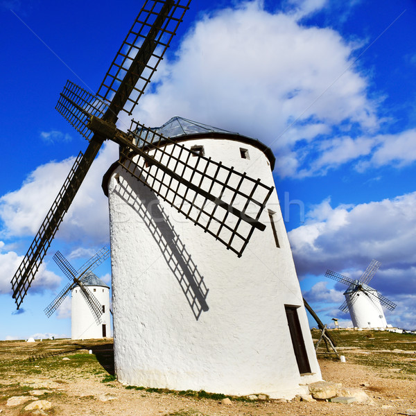 old windmill in Campo de Criptana, Spain Stock photo © nito