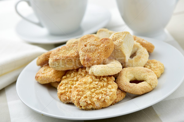 coffe or tea and shortbread biscuits Stock photo © nito