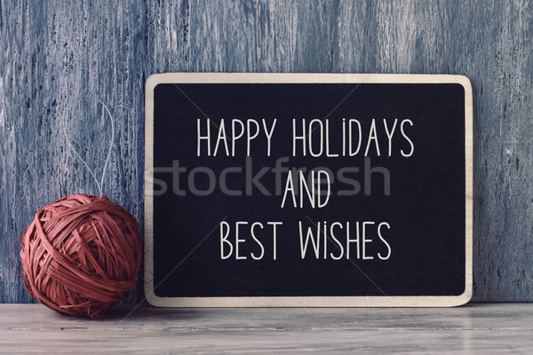 text happy holidays and best wishes Stock photo © nito