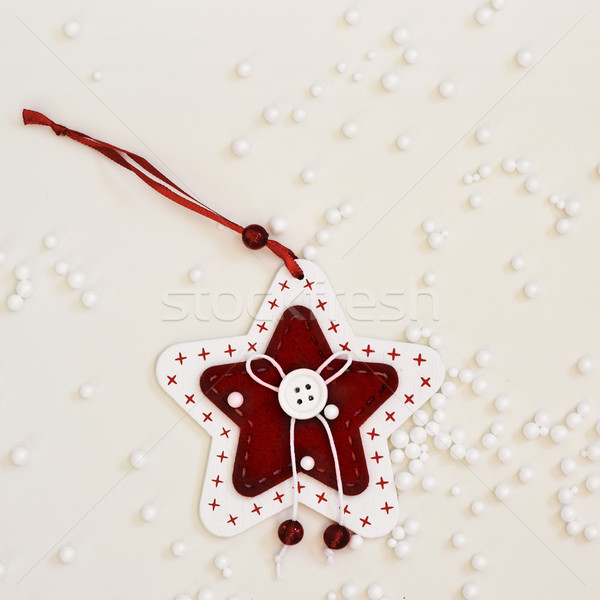 christmas ornament and fake snow Stock photo © nito