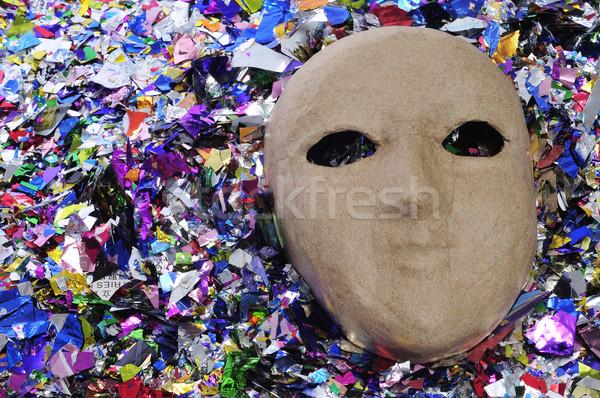 carnival mask and confetti Stock photo © nito