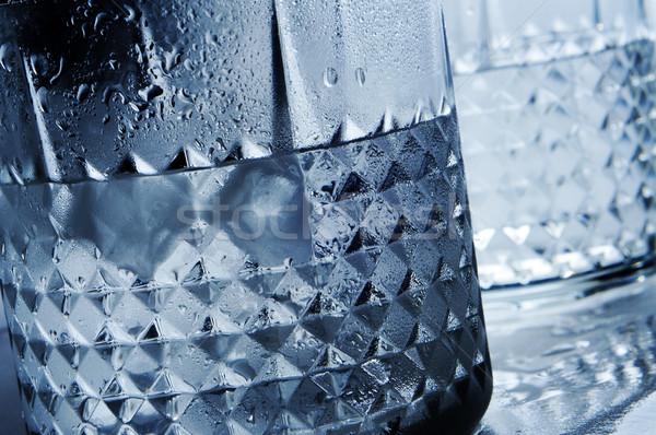 Stock fotó: Italok · közelkép · szemüveg · üveg · jég · éjszaka