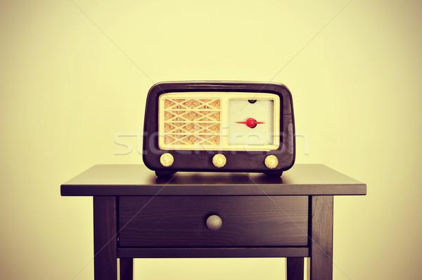antique radio Stock photo © nito